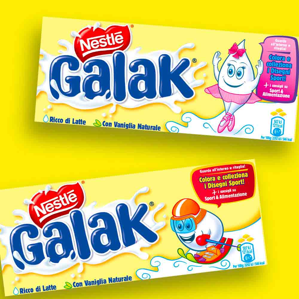 galak nestlè packaging design Visual art group